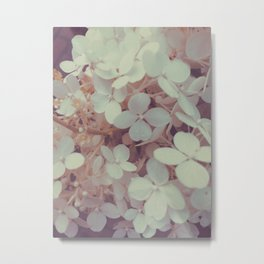 White Flower Bush Metal Print