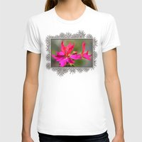 grafitti T-shirts featuring Zonal Stellar Geranium named Grafitti Violet by JMcCombie