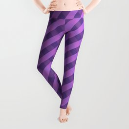 Purple plaid 3 Leggings
