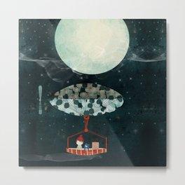 i see the moon too Metal Print