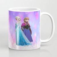 duvet cover Mugs featuring Frozen anna elsa duvet cover by customgift