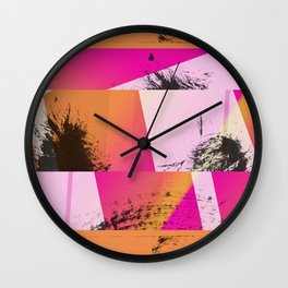 Summer Sunset Abstract Digital Collage Wall Clock