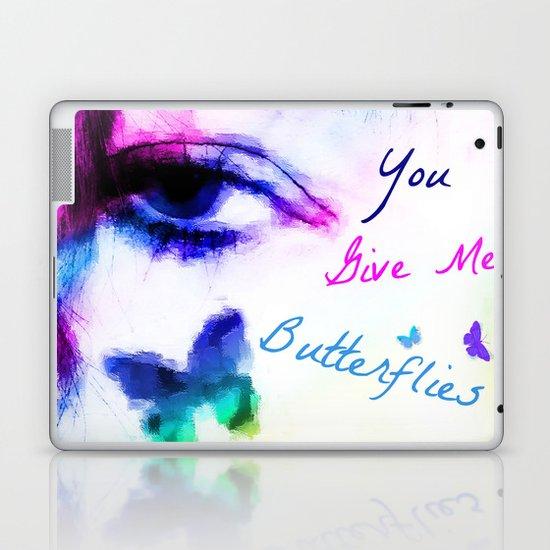 You Give me Butterflies... Laptop & iPad Skin
