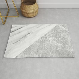 Grey / White Marble Rug