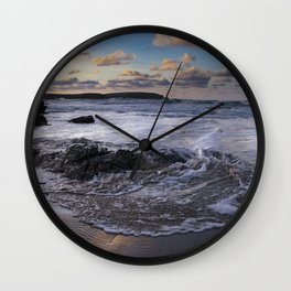 Trevone Bay, Cornwall, England, United Kingdom Wall Clock