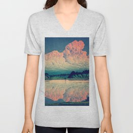 Admiring the Clouds in Kono Unisex V-Neck