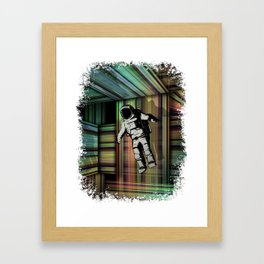 Trapped in Multiple Time Dimensions Framed Art Print