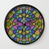 glass Wall Clocks featuring Glass by Fine2art