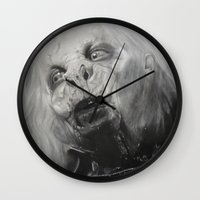 dracula Wall Clocks featuring Dracula by Jasmine