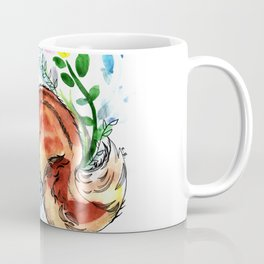 Cute Korea squirrel in sping flowers Coffee Mug