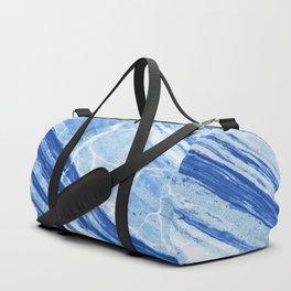 Abstract Marble - Denim Blue Duffle Bag