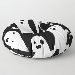 Ghost Splats Floor Pillow