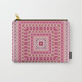 Ethnic ornament, tribal , kradratny, pink ornament Carry-All Pouch