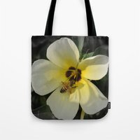 bee Tote Bags featuring Bee by Lia Bernini