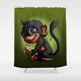 Mr Monkey Shower Curtain