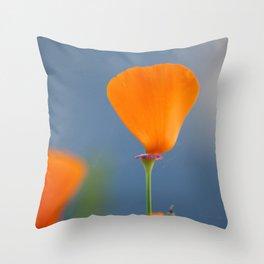 California Poppy Dreaming Throw Pillow