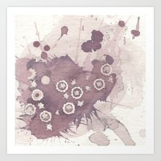 Polka Fleur Art Print