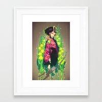 barachan Framed Art Prints featuring kenkyo by barachan