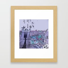 THE COAST OF OKLAHOMA Framed Art Print
