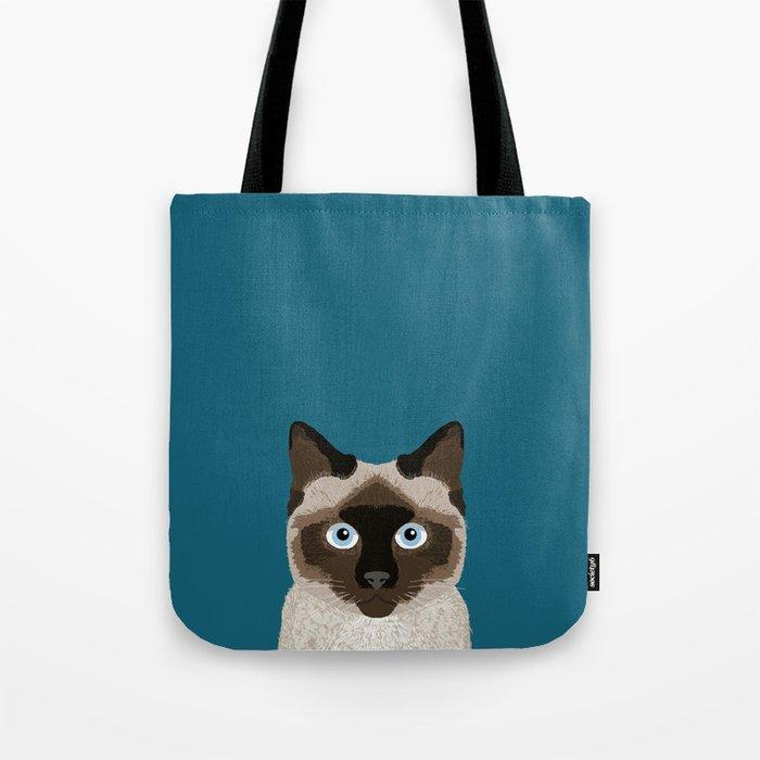 best sneakers d178b 2b44e Ezra - Siamese Cat, Cute Kitten Retro Cat Art cell phone case, siamese,  cute cat Tote Bag by petfriendly