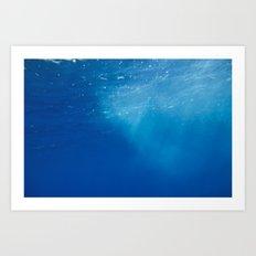 Looking Up at the Ocean Art Print