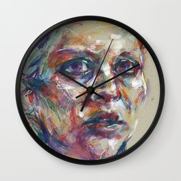 Portrait study VI Wall Clock
