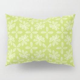 Bright Green Leaflets Pattern Pillow Sham