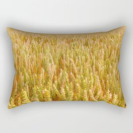 Golden Wheat Field Rectangular Pillow