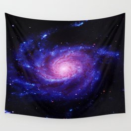 Spiral gAlAxy : Purple Blue Wall Tapestry