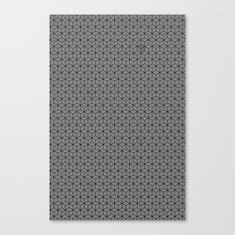 Isometric Weaved Cubes in Black and White Pattern - Graphic Design Canvas Print