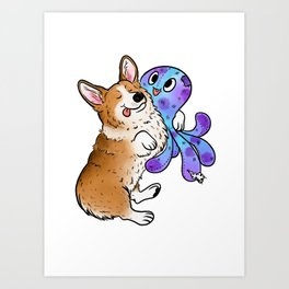 Snuggle Buddy Art Print