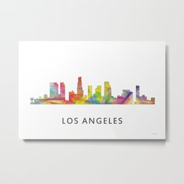 Los Angeles, California Skyline WB1 Metal Print