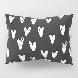 Heart hand drawn seamless pattern Pillow Sham
