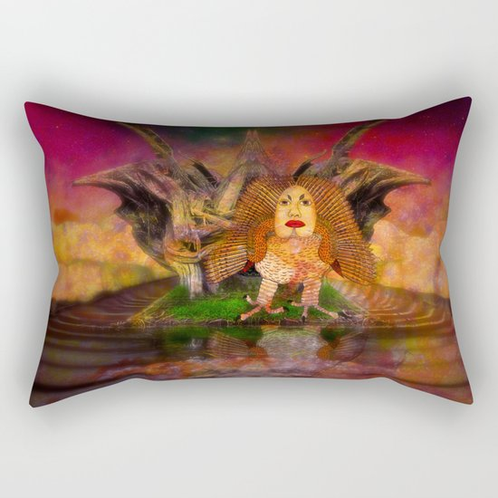 Wisdom only spreads its wings when souls true light begins to sing Rectangular Pillow