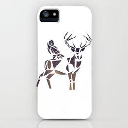 deer & owl iPhone Case