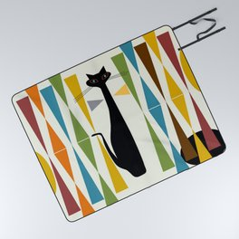 Mid-Century Modern Art Cat 2 Picnic Blanket