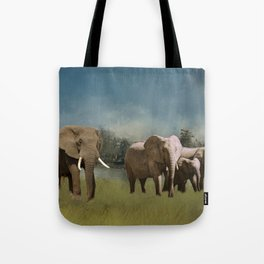 Leaving The Watering Hole Tote Bag