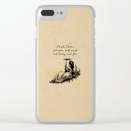 Wuthering Heights - Emily Bronte Clear iPhone Case