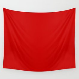 Bright red Wall Tapestry