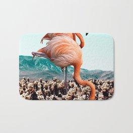 Flamingos In The Desert #society6 #artprints #flamingo Bath Mat