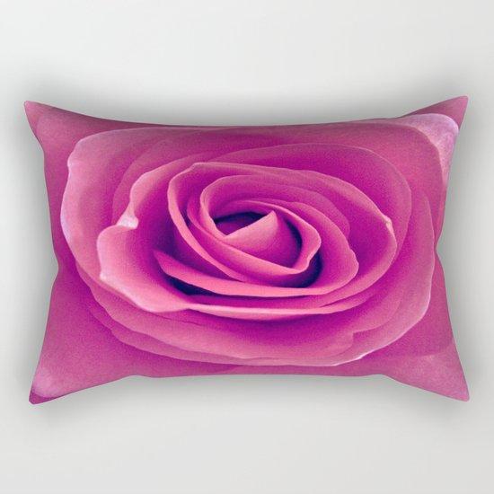 Pink Rose Rectangular Pillow