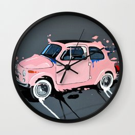 The pink lady Wall Clock