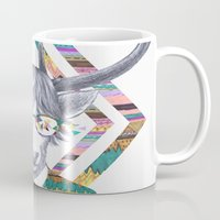 kris tate Mugs featuring DREAMTAPES, created by Elena Mir and Kris Tate by Serpentine