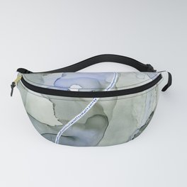 Serenity, Gray Blue Flow Fanny Pack