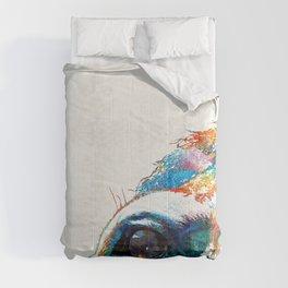 Colorful Horse Art - A Gentle Sol - Sharon Cummings Comforters