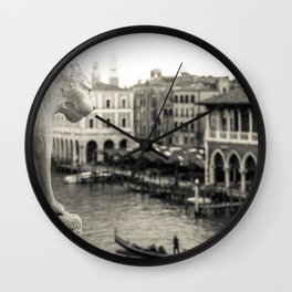 Lion in Venice Wall Clock