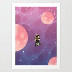Teen Dog in Space Art Print