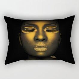 Golden Shimmer Rectangular Pillow
