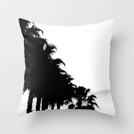 Palm tree Line up! Throw Pillow