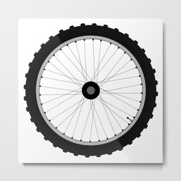 Bicycle Wheel Metal Print